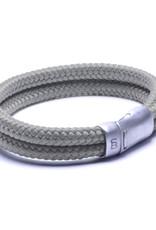 Steel & Barnett Men Bracelet Lake Rope-cement grey