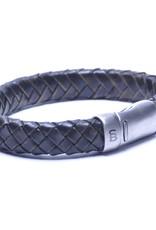 Steel & Barnett Men Bracelet Cornall Leather-chocolate (vintage black)