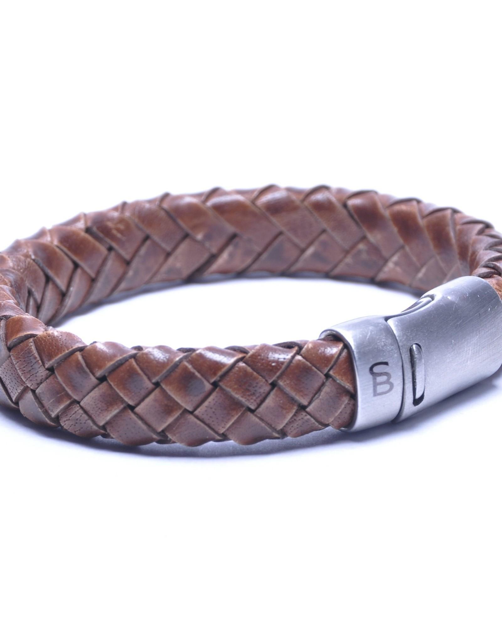 Steel & Barnett Men Bracelet Cornall Leather-caramel