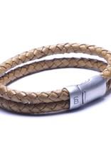 Steel & Barnett Men Bracelet Sherman Leather-camel