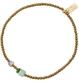 Jules Bean Armband Collectabean Madelief-Hematite-aventurine/malachiet/dalmatian jaspis