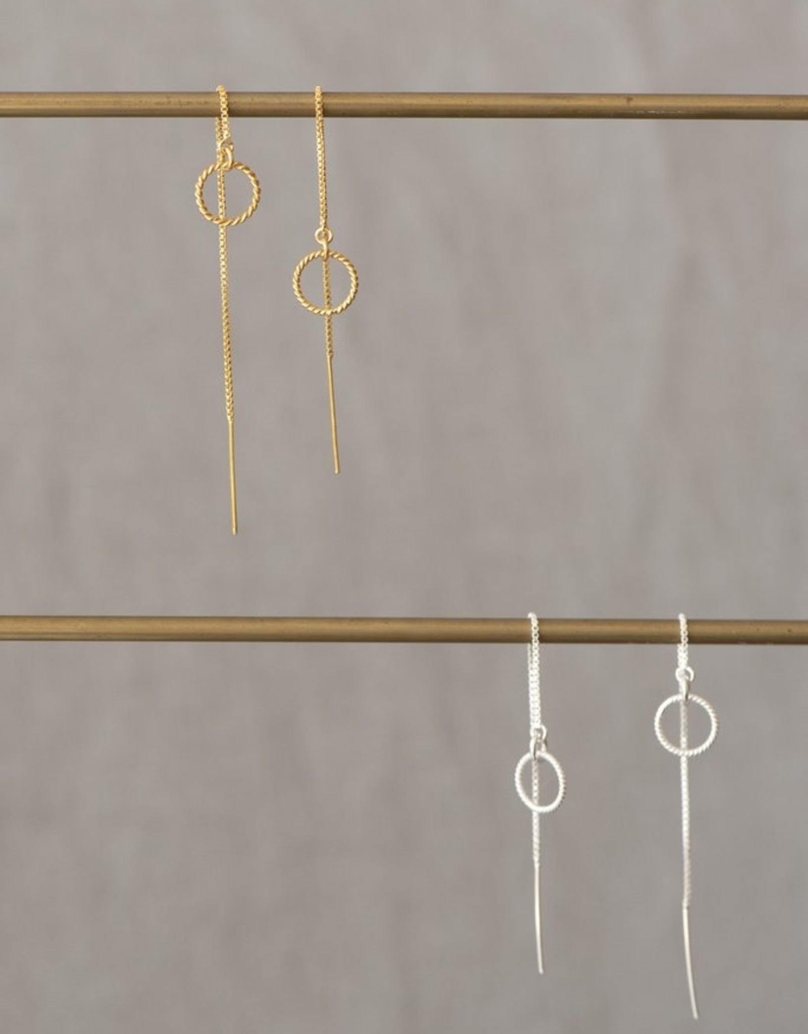 Jules Bean Oorbellen Threader Almond-sterling silver