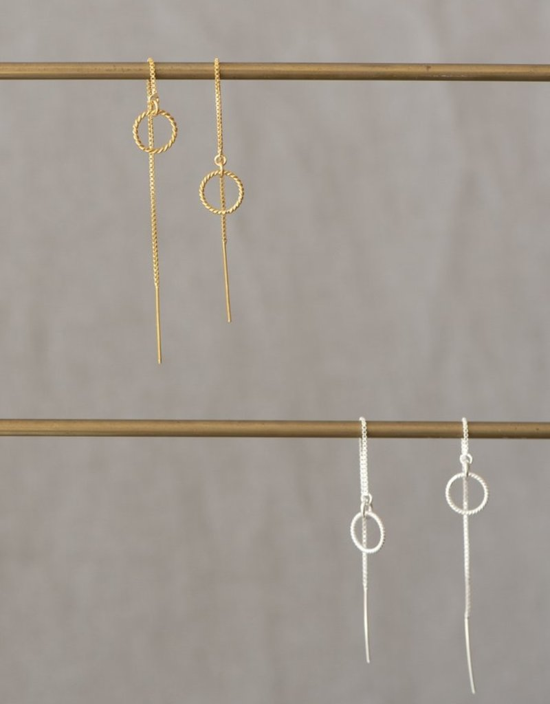 Jules Bean Oorbellen Almond Threader-sterling silver