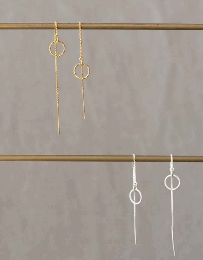 Jules Bean Oorbellen Almond Threader-gold