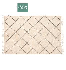 Hubsch Tapijt 100% Cotton Grid 120x180cm-beige