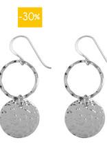 Hinth Oorbellen Yin Yang-silver
