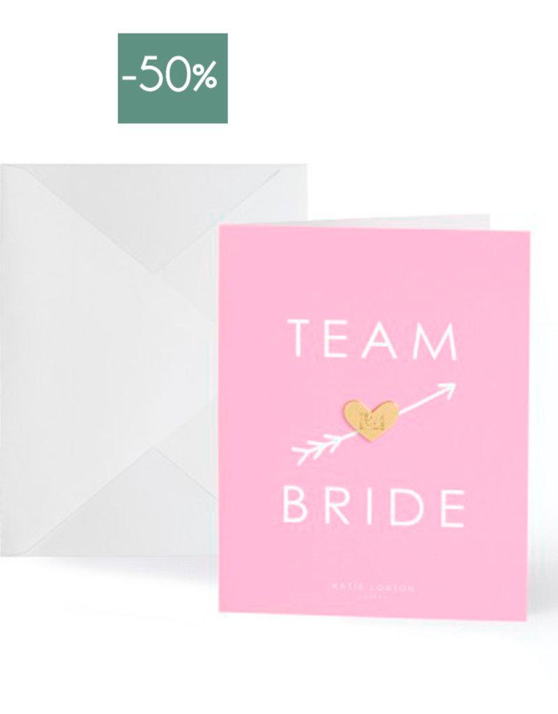 Katie Loxton Wenskaart Gold Pin Team Bride-pink