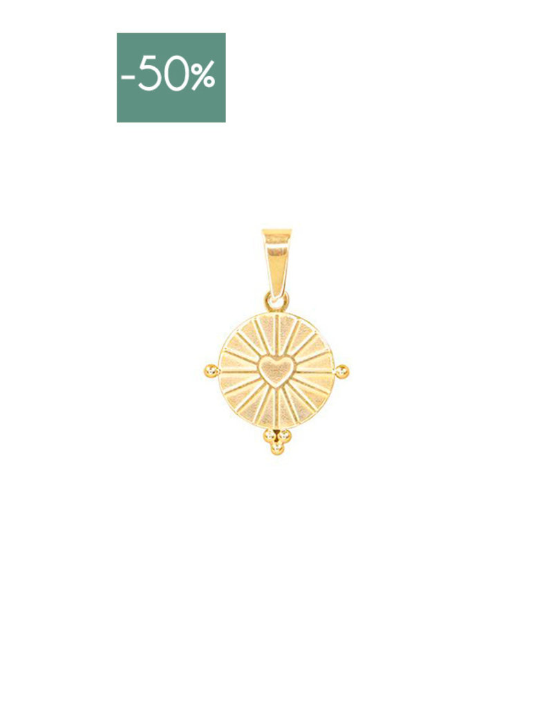 My Jewelry Charm voor ketting Round Heart-gold