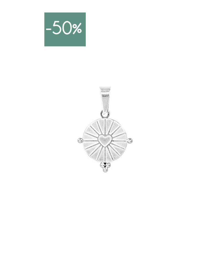 My Jewelry Charm voor ketting Round Heart-silver