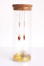 Oorbellen Creole Starlight-gold/red