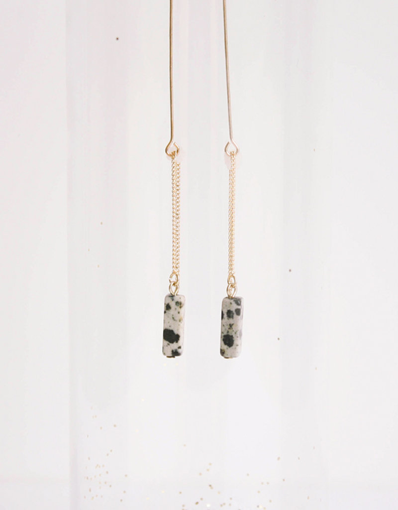 Oorbellen Stone-gold/dalmatian