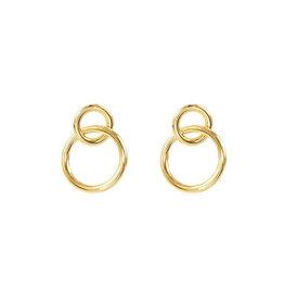 My Jewelry Oorbellen Double Circle-gold