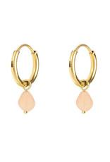 My Jewelry Oorbellen Creole Rose Stone-gold