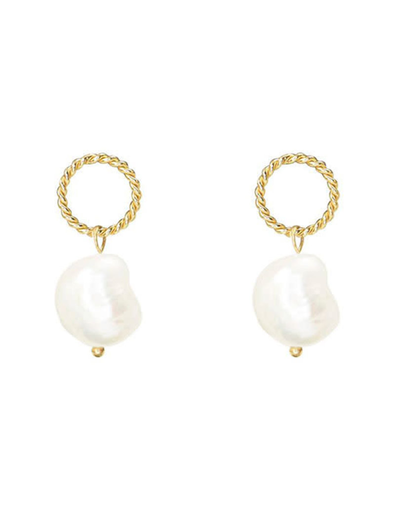 My Jewelry Oorbellen Vintage Circle Pearl-gold