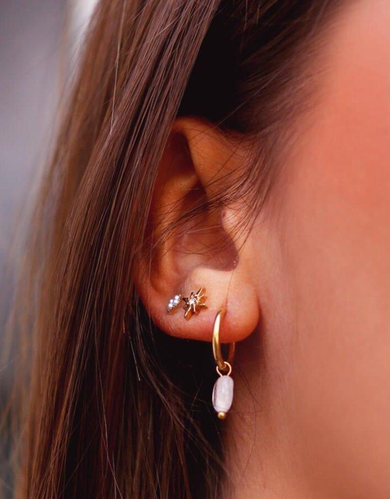 My Jewelry Oorbellen Studs Block Pearls-gold
