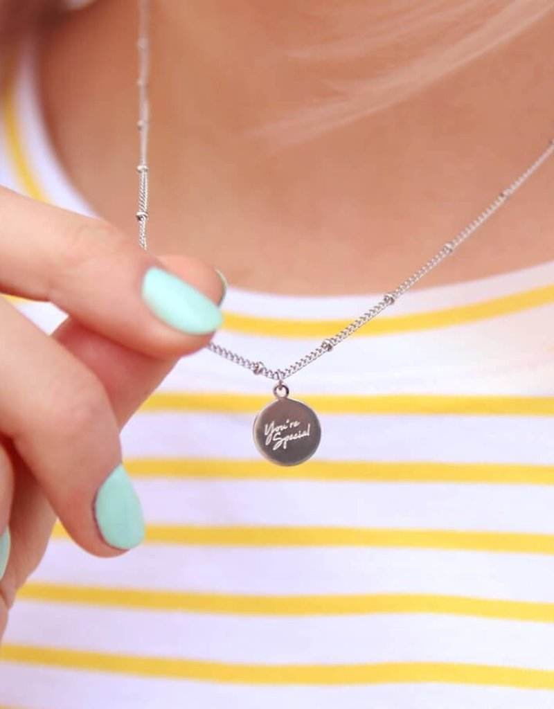 My Jewelry Ketting dots charm 'You're Special'-gold