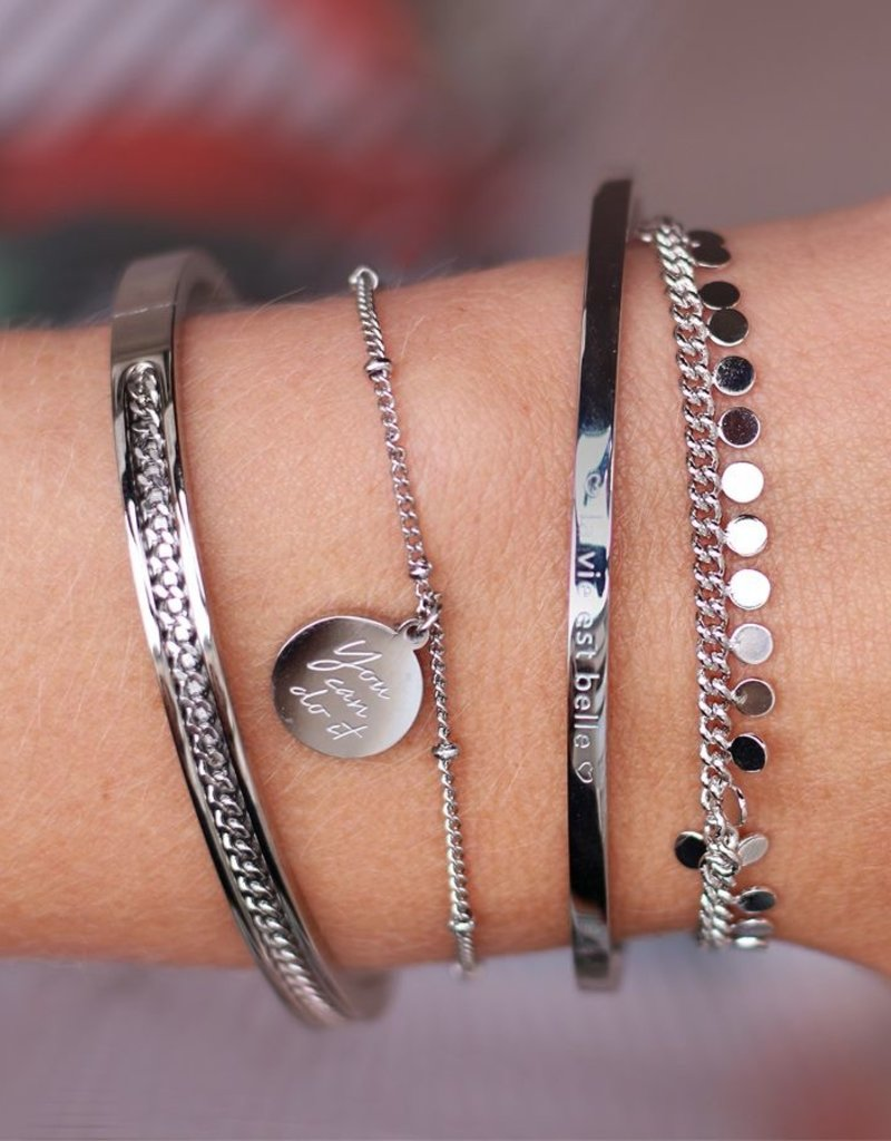 My Jewelry Armband bedel You can do it-gold