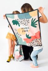 Sjaal 'Mama Power' 65x65cm-mix