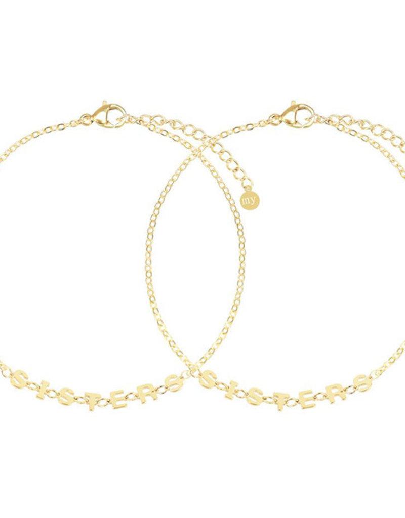 My Jewelry Armband SET Sisters-gold