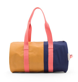 Sticky Lemon Duffle Sportsbag Vertical-caramel fudge / midnight blue