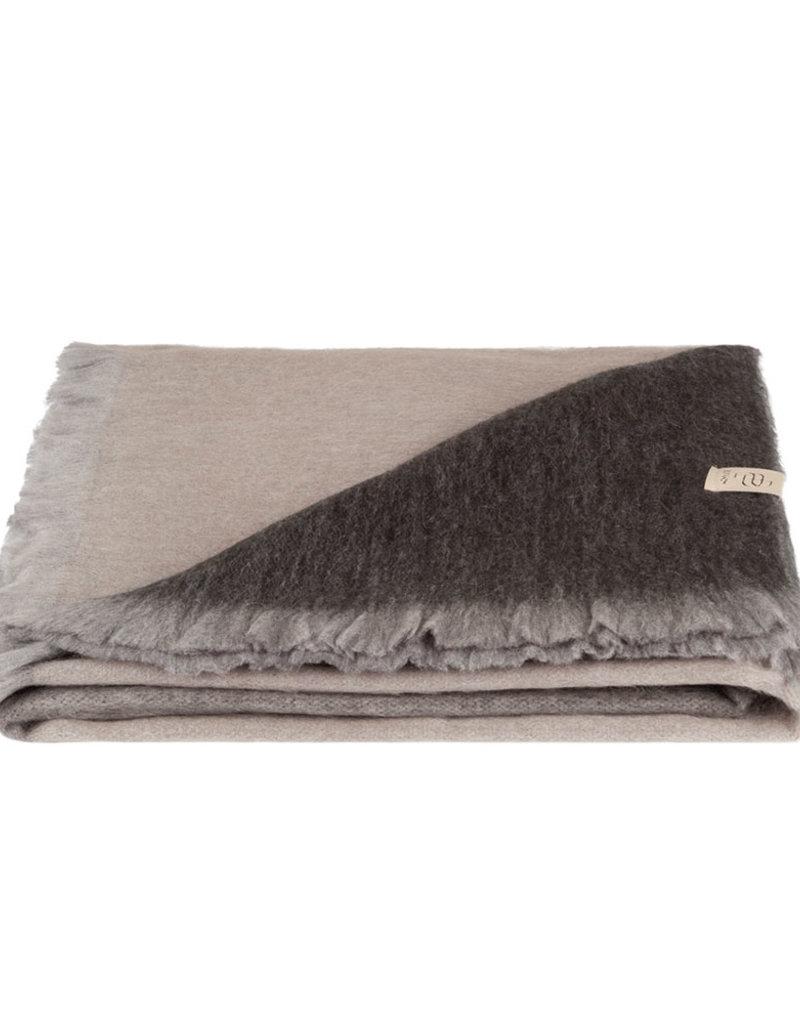 Bufandy Alpaca sjaal Ombre-warm taupe