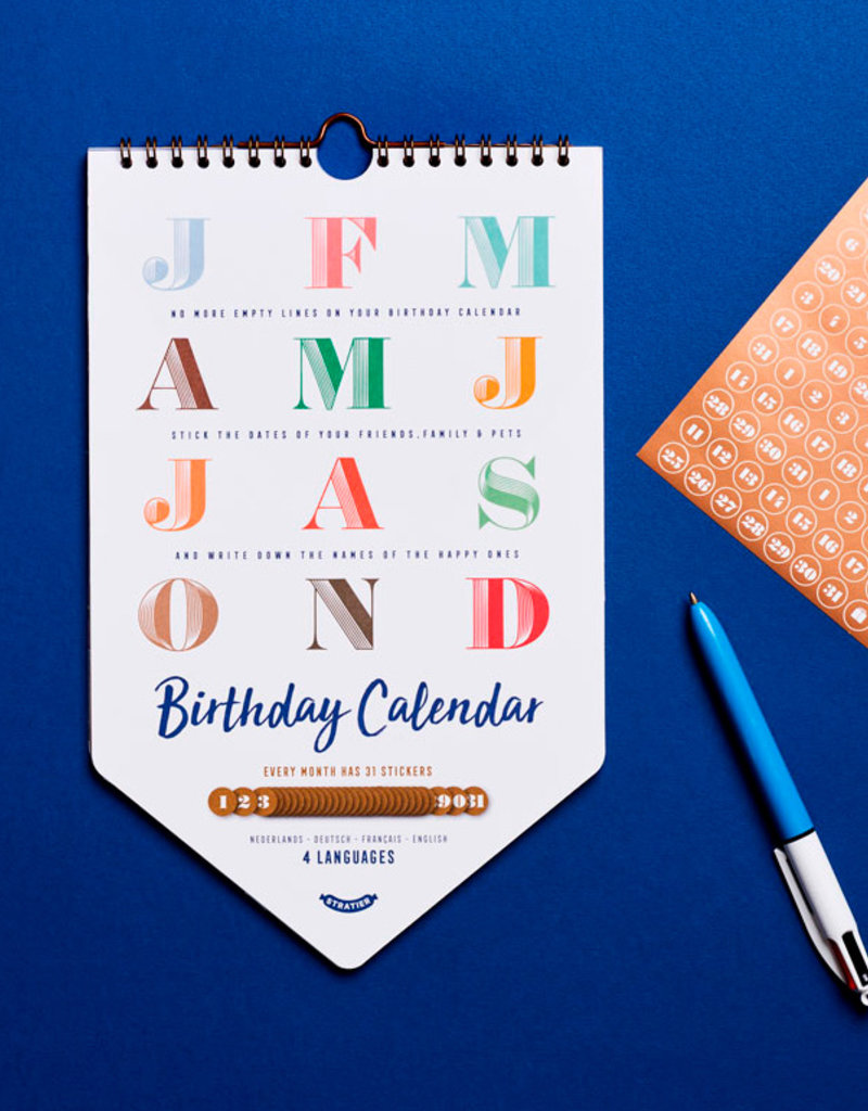 Stratier Verjaardagskalender met stickers