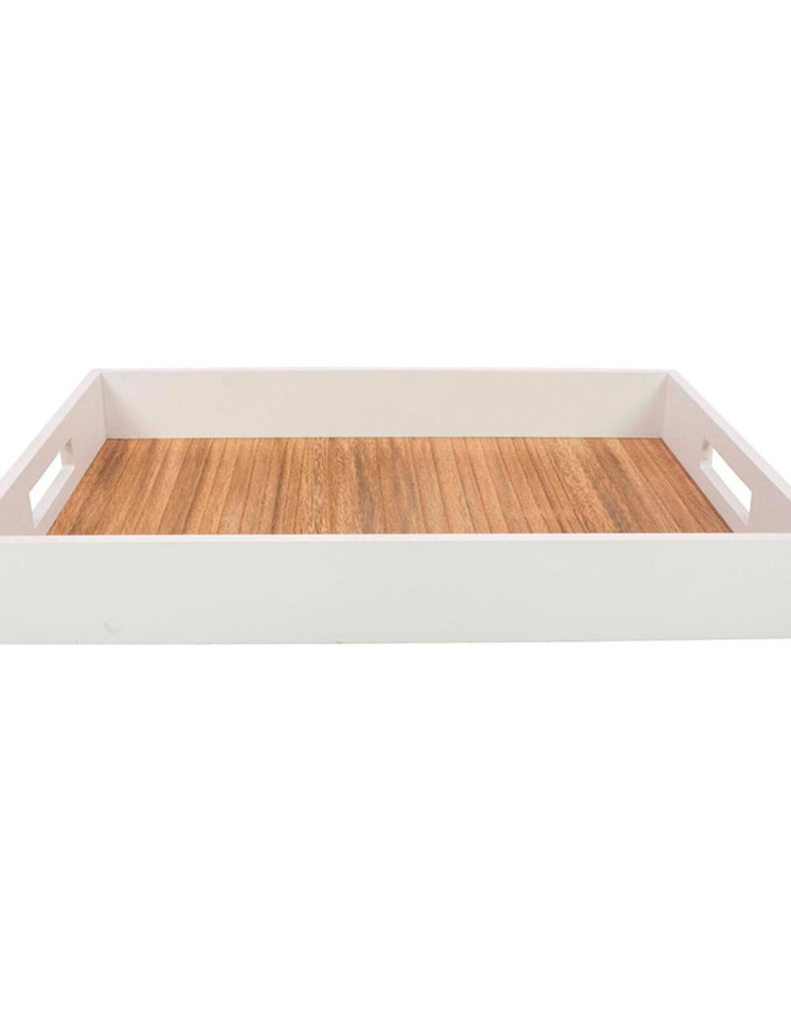 Dienblad Gusta 38x28cm-white/wood