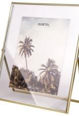 Fotolijst 20x25x1cm-gold/glass