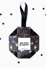 The Gift Label Xmas Ornament-Believe in Happy (handcreme+lipgloss)