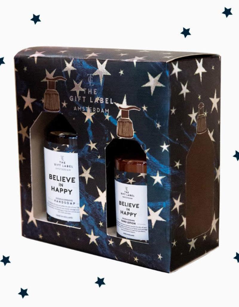 The Gift Label Xmas Giftbox-Believe in Happy (handzeep+handlotion)