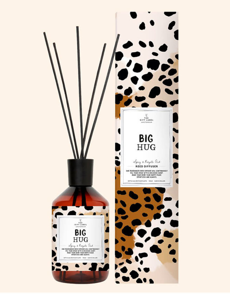 The Gift Label Home Reed Diffuser-Big Hug (spicy & royal oud)