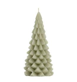 Rustik Lys Xmas Tree Candle 10x20cm-eucalyptus