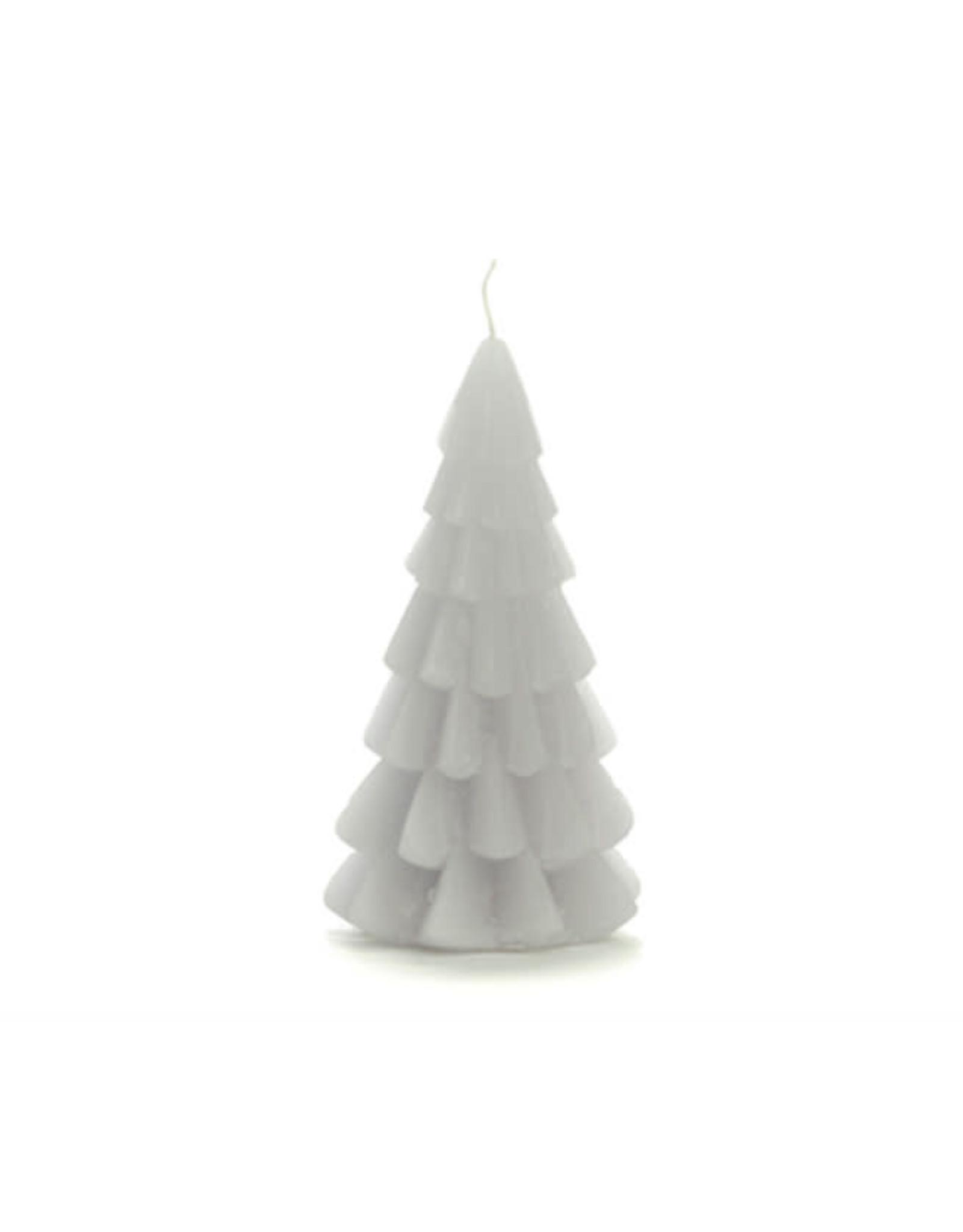 Rustik Lys Xmas Tree Candle 6x12cm-cool grey