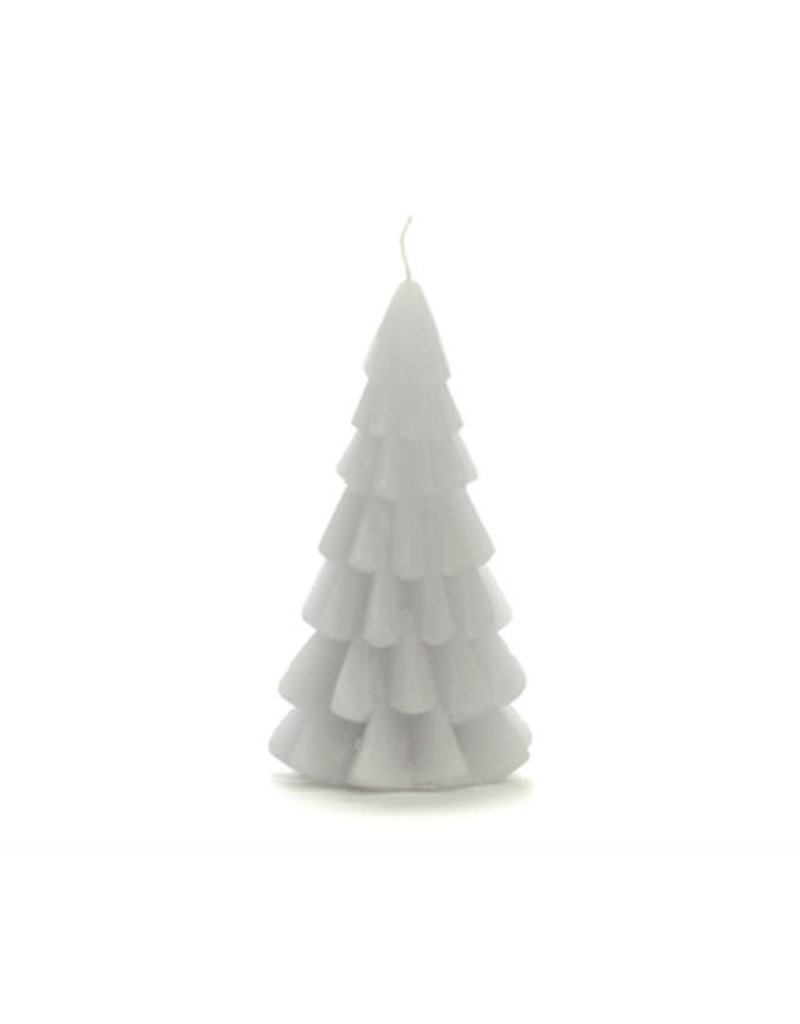 Rustik Lys Xmas Tree Candle 6x12cm-cool grey
