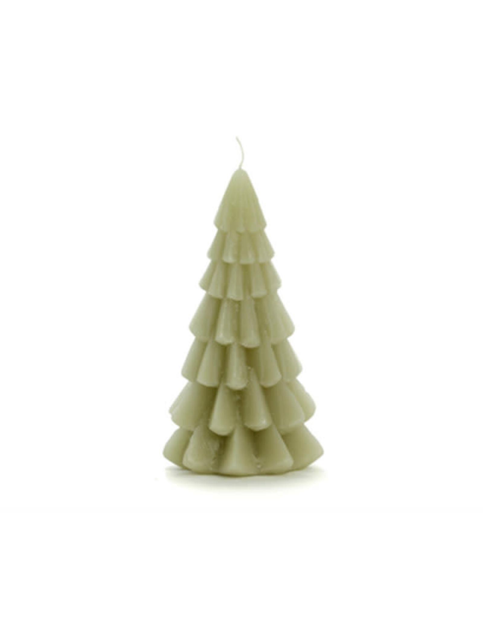 Rustik Lys Xmas Tree Candle 6x12cm-eucalyptus