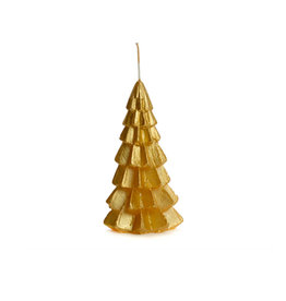 Rustik Lys Xmas Tree Candle 6x12cm-gold