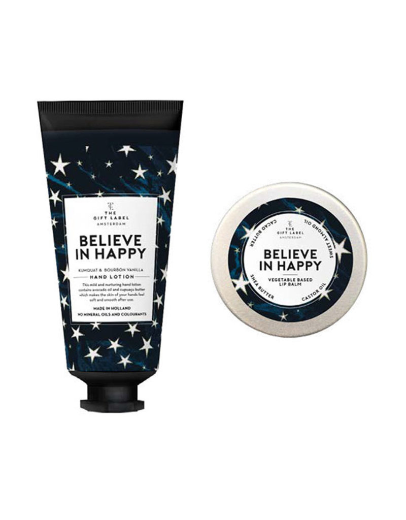 The Gift Label Surprise Ball-Believe in Happy (handcreme+lipgloss)