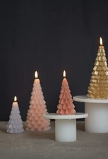 Rustik Lys Xmas Tree Candle 10x20cm-gold