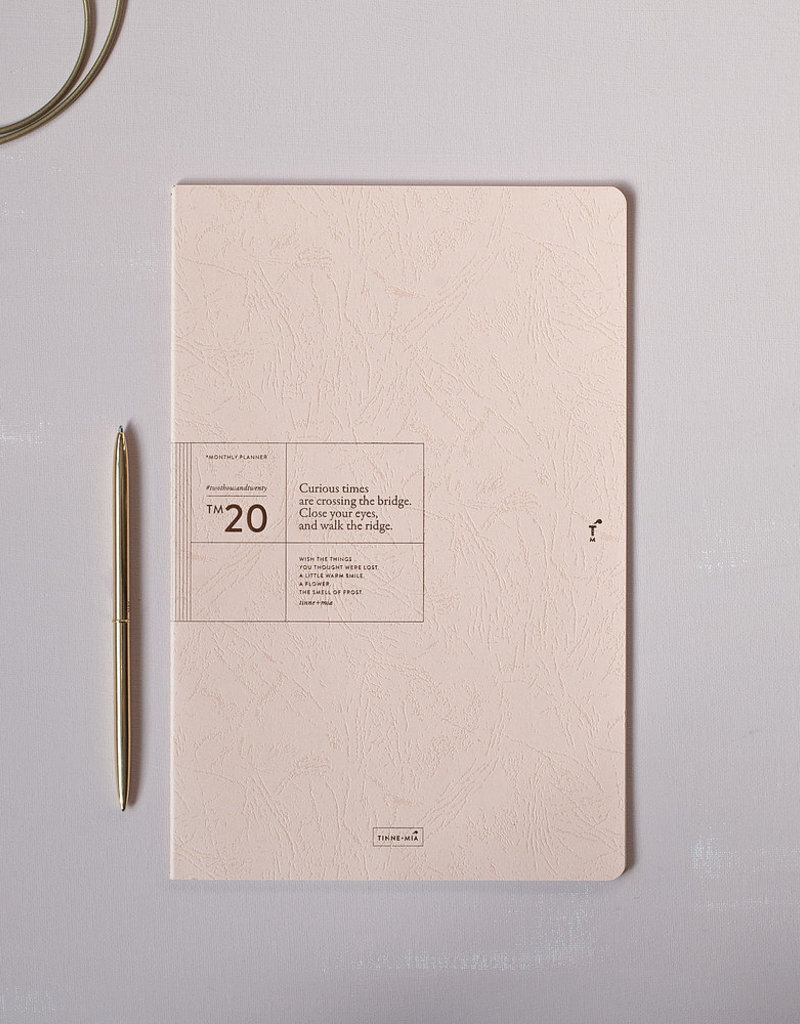 Tinne+Mia Monthly Planner 2020-nude pink