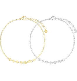 My Jewelry Armband SET Sisters-mix gold/silver