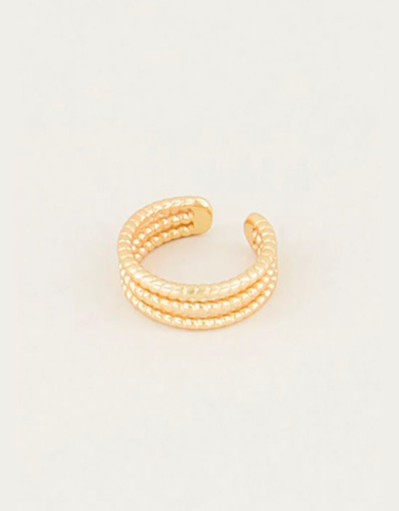 My Jewelry Earcuff Triple Rings-gold