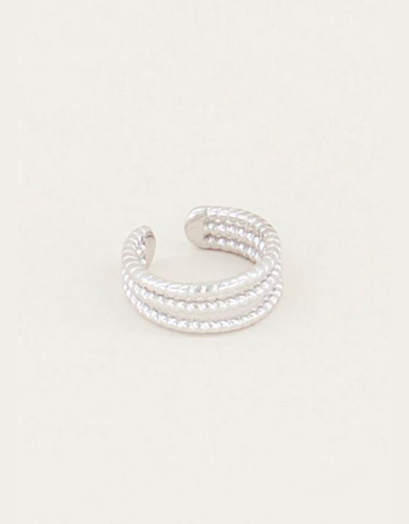 My Jewelry Earcuff Triple Rings-silver