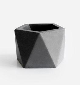 House Raccoon Concrete Pot MARE Large-jade black