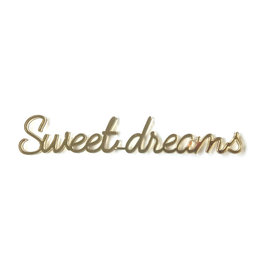 Goegezegd Quote Sweet Dreams-gold