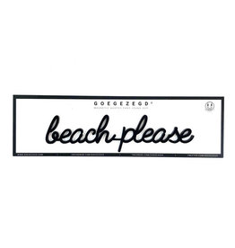 Goegezegd Magnetic Quote Beach Please-black