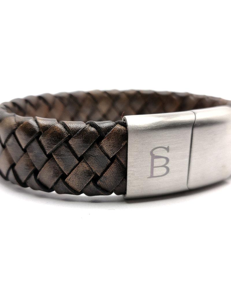 Steel & Barnett Men Bracelet Preston Leather-vintage brown