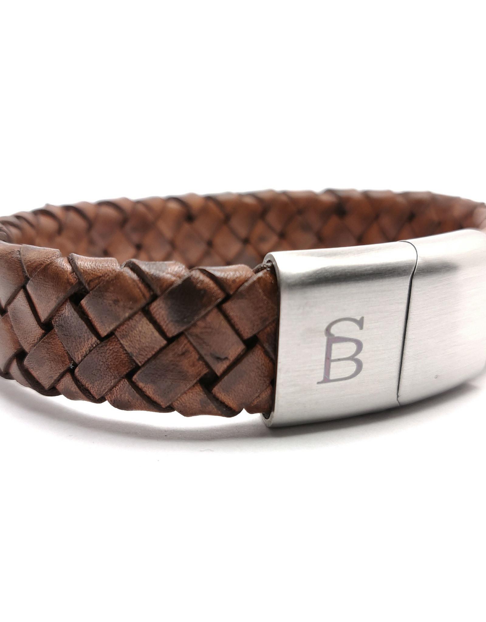 Steel & Barnett Men Bracelet Preston Leather-caramel