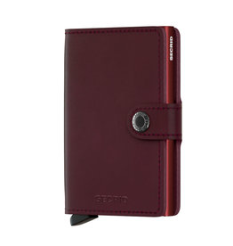 Secrid Miniwallet Metallic-moro bordeaux