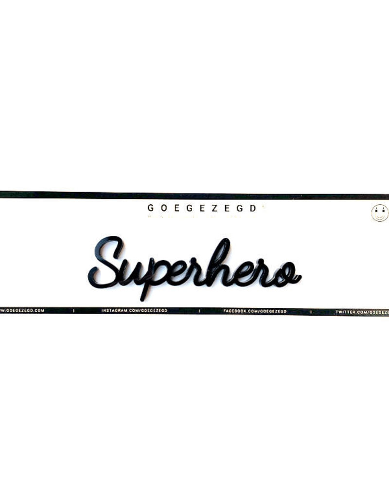 Goegezegd Magnetic Quote Superhero-black