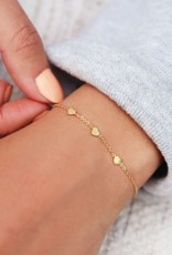My Jewelry Armband 3 little Hearts-silver
